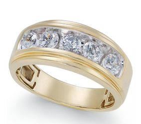 Mens Gold/Diamond Wedding Band for Sale in St. Louis,  MO