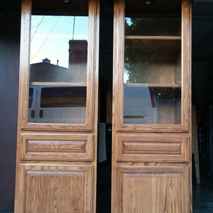 NICE TOWERS IN OAK COLOR $80 each.. for Sale in South El Monte, CA