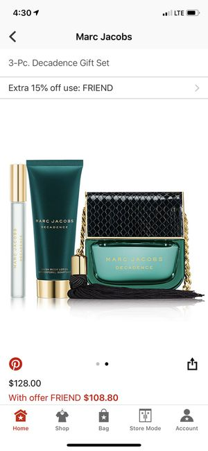 Marc Jacobs Decadence Gift Set for Sale in Philadelphia, PA