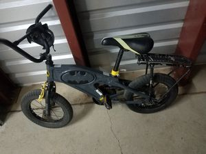 Batman kids bike w/ rack , bell on handlebars for Sale in Aurora, CO