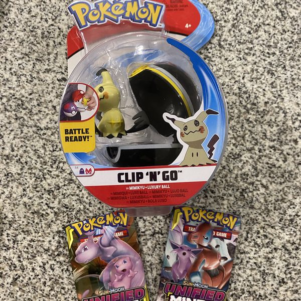Pokemon Clip 'n' Go BATTLE READY MIMIKYU+LUXURY BALL+UNIFIED MIND Booster Pack