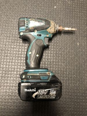 Makita cordless lxt impact driver 18v including 3.0Ah battery lithium ion for Sale in Escondido, CA