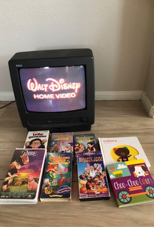 TV/VHS Combo with 6 kids Movie and 2 books $42 for Sale in Victorville, CA