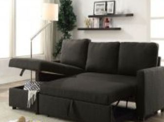 Black Sectional Sofa Sleeper 81x60 for Sale in Fort Lauderdale,  FL