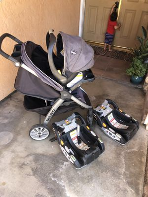 Chicco key fit 30 stroller combo with 2 bases for Sale in Manteca, CA