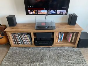 """Sunburn Tv Stand for TVs up to 78""""- Great Condition! for Sale in Oakland, CA"""