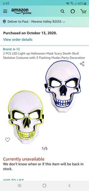 Halloween skeleton mask for Sale in Moreno Valley, CA