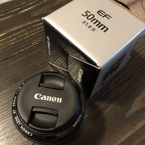 Canon EF 50mm f/1.8 II Camera Lens for Sale in Fort Washington, MD