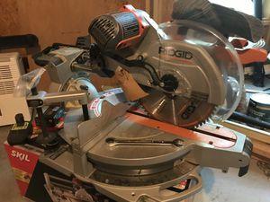 "Ridgid 12"" sliding miter saw with laser for Sale in Lake City, GA"