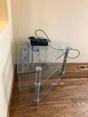 Glass tv stand for Sale in Littleton, CO