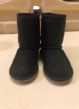 UGG Black Boots size 7 girls for Sale in Grand Prairie, TX