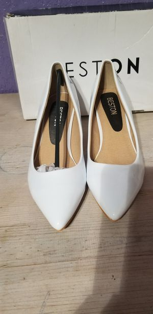 New Beston Aubree-16- FE white heels size 7 for Sale in West Covina, CA