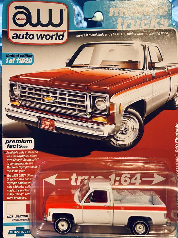 Auto World Muscle Trucks 1976 Chevy Scottsdale C10 Fleetside # 2 release 1 version A 1/11020 new mint