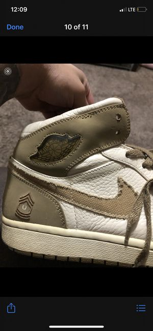 Retro 1 Air Jordan armed forces pearl white Size 11 for Sale in El Paso, TX