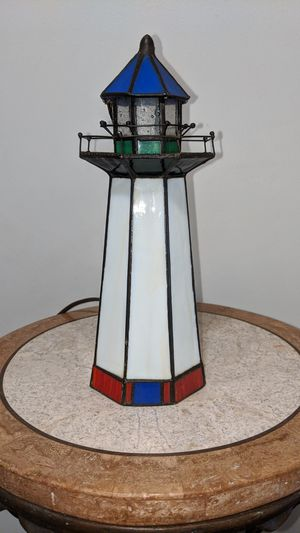 Small stained glass lighthouse for Sale in Kenneth City, FL