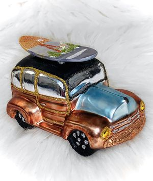 glass woody wagon surfboard christmas ornament for Sale in Chandler, AZ