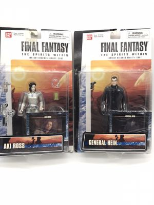 New on Card - Final Fantasy The Spirits Within Movie Action Figure - lot of 2 for Sale in Raleigh, NC