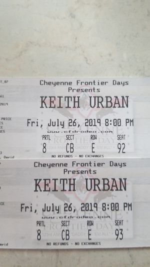 Keith urban tickets for tonight's concert for Sale in Evans, CO