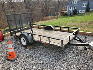 Home made trailer has vin from dmv. 12 feet long comes with a set of new led lights and plug. Needs a hub for Sale in Torrington, CT