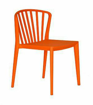 Windsor Stack Plastic Dining and Patio Side Chairs. ORANGE Color Polypropylene. Commercial Use Restaurant CAFE for Sale in South El Monte, CA