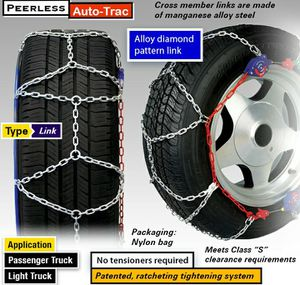 Peerless self tightening traction Snow chains. for Sale in Rancho Cucamonga, CA