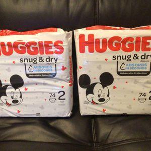 Huggies Snug & Dry 2 Packs for Sale in Orange, CA