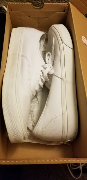 Mens all white vans for Sale in Bakersfield, CA