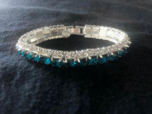 Sterling Silver / Ocean Blue CZ Bracelet for Sale in Las Vegas, NV