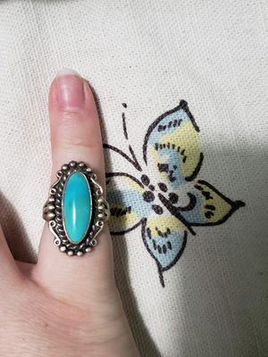 Turquoise Sterling Silver Ring for Sale in Elgin, IL