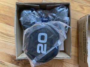 Brand new Fitness Gear Dumbbells 20lb set of two blue for Sale in Adelphi, MD