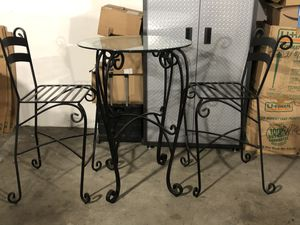 Beautiful Iron High Top breakfast/out Door Table for Sale in Washington, DC