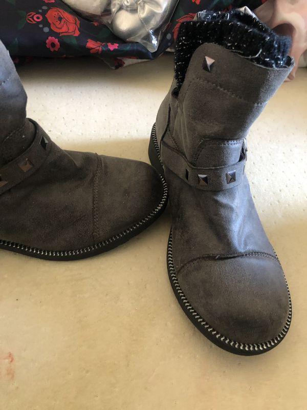 mia kids girl boots size 5