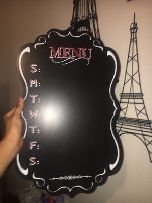 Menu chalkboard for Sale in Niagara Falls, NY