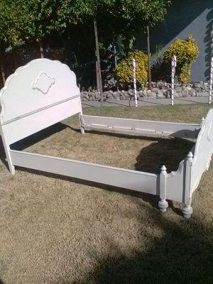 Shabby distressed full size bed frame for Sale in San Bernardino, CA