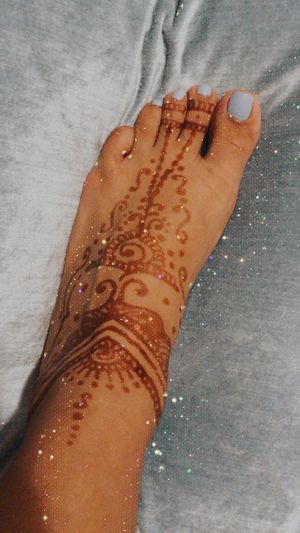 Henna (after dried) next slide with paste on for Sale in Riverside, CA