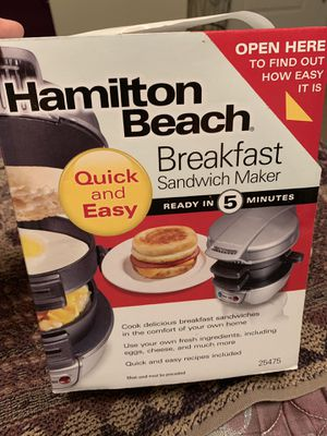 Hamilton Beach Breakfast Sandwich Maker for Sale in Virginia Beach, VA