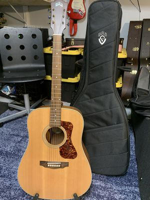 Guild d240e acoustic electric guitar like new with case for Sale in Boca Raton, FL