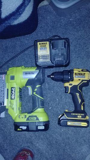 Roybi and dewalt brushless drill 20 v for Sale in San Antonio, TX