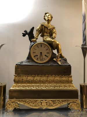 Cailly Ains Antique French Empire Ormolu Clock for Sale in Los Angeles, CA