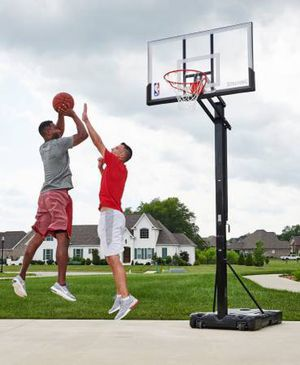 "Spalding NBA Portable Screw Jack Basketball Hoop 54"" Polycarbonate for Sale in Austin, TX"