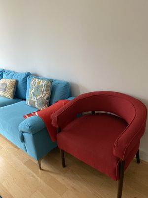 Blue L shaped couch for Sale in McLean, VA