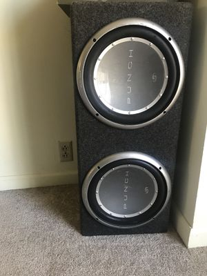 "2 12"" Rockford Fosgate Subwoofer and Box for Sale in St. Louis, MO"