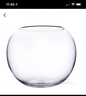 Glass around Bubble Bowl/ Terrarium/ Fish Bowl/Vase/ Centerpiece for Sale in Oakland, CA