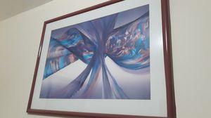 Abstract framed art, modern, multi color, purple/ Arte Abstracto violeta moderno for Sale in Miami, FL