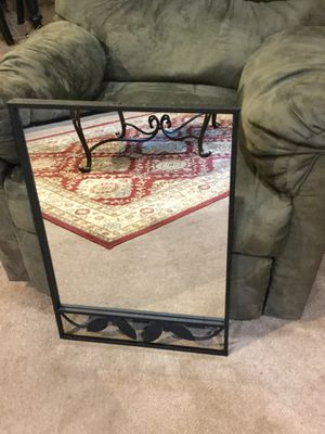 Wall Mirror with Black metal frame for Sale in Howell, NJ