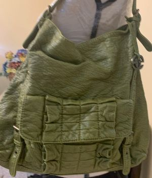 Green leather handbag for Sale in Lancaster, PA