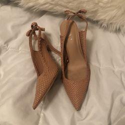 Tan/pink Heels, Size 39/ 8.5 for Sale in Carrollton,  TX