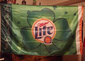 Miller lite St Patty's day flag for Sale in Fort Wayne, IN