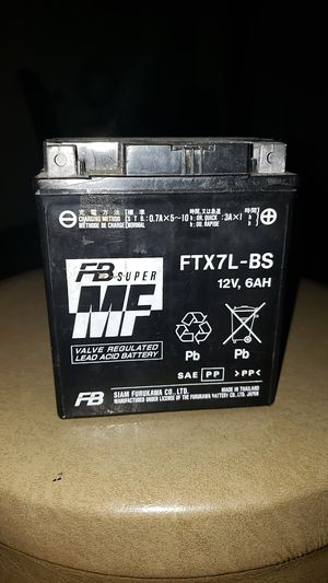 Maintenance free motorcycle battery ytx7lbs ytx7l-bs ftx7lbs cbtx7lbs etx7lbs-new for Sale in Newport Beach, CA