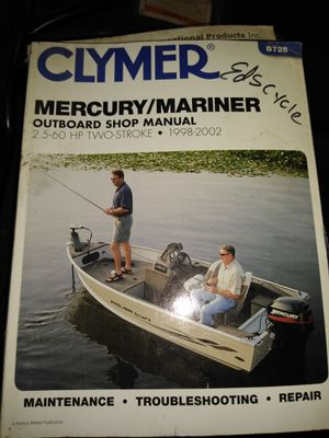 Mercury outboard motor repair manual for Sale in Riverton, VA